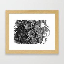 Roses (black and white) Framed Art Print