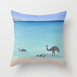 Surfin' Bird Throw Pillow