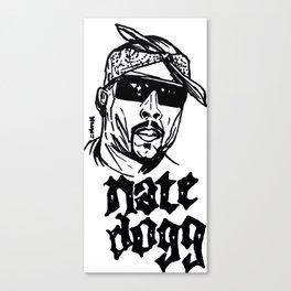 Nate Dogg Art Freehand/Graffiti  Canvas Print