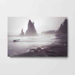Misty Beach Metal Print