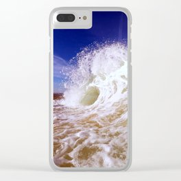 Fantastic Wave Clear iPhone Case