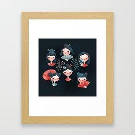 Japanese girls Framed Art Print