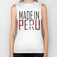 peru Biker Tanks featuring Made In Peru by VirgoSpice