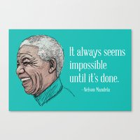 mandela Canvas Prints featuring Mandela by Fortissimo6