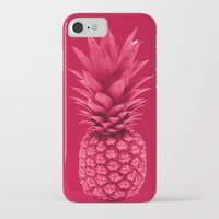 pineapple iPhone & iPod Cases featuring Pineapple by Simi Design