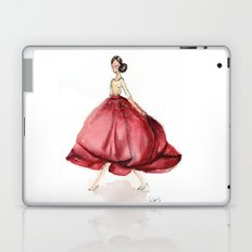 Red Fashion Watercolor Model Laptop & iPad Skin