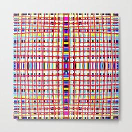Long Straws - Stroke Series 001 Metal Print