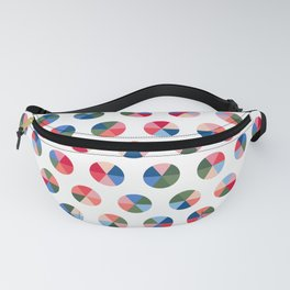 Colourful Shapes - Pie Chart, Wheel of Fortune Fanny Pack