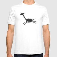 black giraffe White MEDIUM Mens Fitted Tee