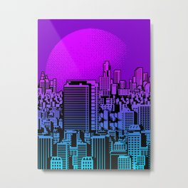 Cityscape collage 01A Metal Print