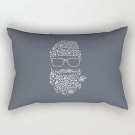 Bird Hipster bleu Rectangular Pillow