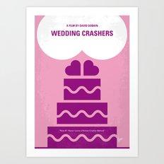No437 My Wedding Crashers minimal movie poster Art Print