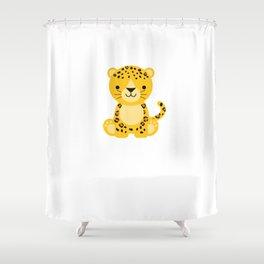 Cheetah Gift design Shower Curtain