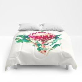 Vintage Protea  Comforters