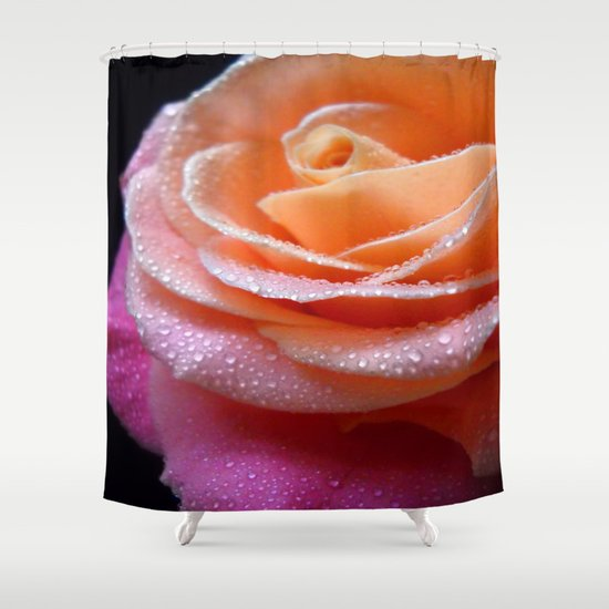 Rose Macro. On Front Page. Shower Curtain