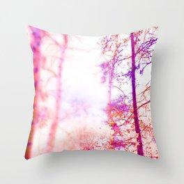 Light streaming through the trees Throw Pillow