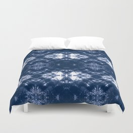 Shibori Tie Dye 1 Indigo Blue Duvet Cover
