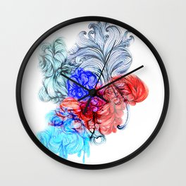 Tricolour Psychadelium Wall Clock