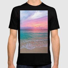 Aerial Photography Beautiful: Turquoise Sunset Relaxing, Peaceful, Coastal Seashore T-shirt