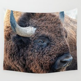 In The Presence Of Bison Wall Tapestry