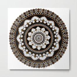 Copper Mandala Metal Print