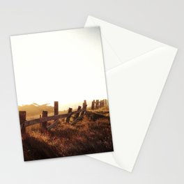 Fence line in a field Stationery Cards