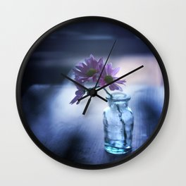 Blue Evening Wall Clock