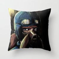 nausicaa Throw Pillows featuring Nausicaa of the Valley of the Wind by Barrett Biggers