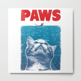 Paws Cat Metal Print