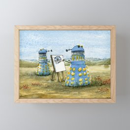 Dalek Painting Framed Mini Art Print