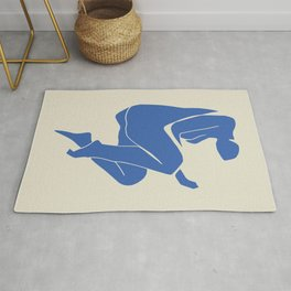 Sleeping nude blue cut out Rug