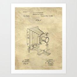 Industrial Farmhouse Blueprint Camera Art Print
