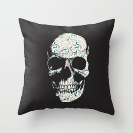 B-Skull Throw Pillow