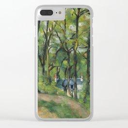 """Paul Cezanne """"The Orchard. La côte Saint-Denis à Pontoise"""" Clear iPhone Case"""