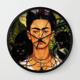 Frida Kahlo Cat Wall Clock