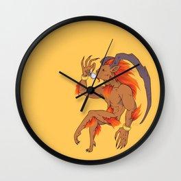 Tea Toting Ifrit Wall Clock