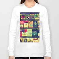 cigarette Long Sleeve T-shirts featuring cigarette collection by gzm_guvenc