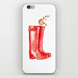 Red Christmas Boot iPhone Skin