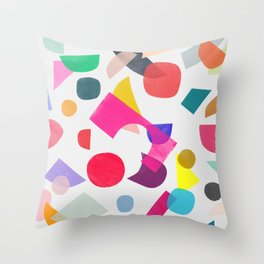 colored toys 2 Throw Pillow