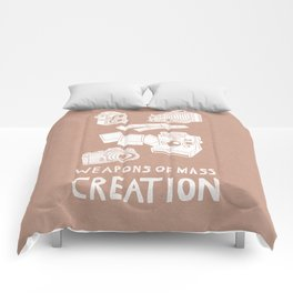 Weapons Of Mass Creation - Photography (white) Comforters
