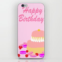 Pink Birthday Religieuse iPhone Skin