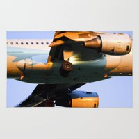 plane Area & Throw Rugs featuring Plane by Luc Girouard