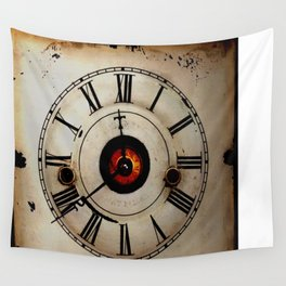Antique Clock Face Wall Tapestry