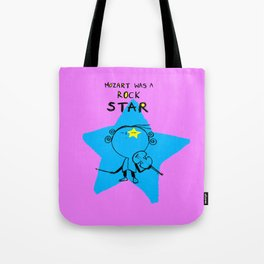 MOZART WAS A ROCK STAR (PINK) Tote Bag