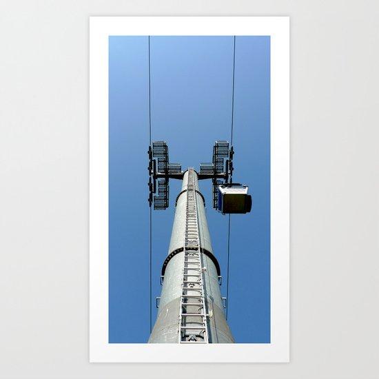 Aerial tramway Art Print
