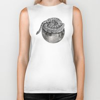 outer space Biker Tanks featuring life in outer space by sustici