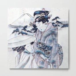 Ladies Of Japan In Traditional Dress Metal Print