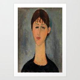 "Amedeo Modigliani ""Portrait of Mme Zborowska"" Art Print"