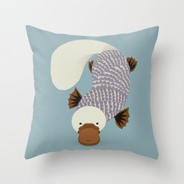 Whimsical Platypus Throw Pillow