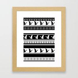 Halloween on Christmas - Black and White Framed Art Print